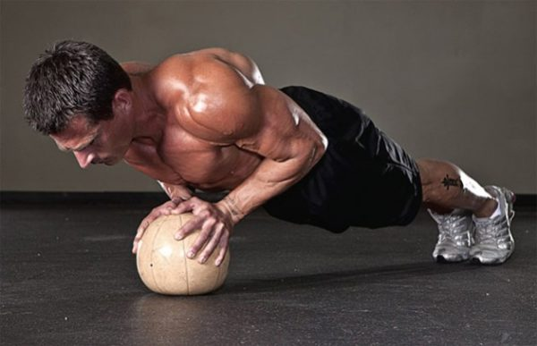 Chest squeeze pushup for chest workout