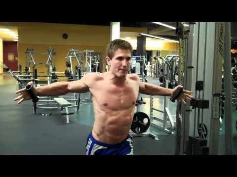 How to do cable fly chest workout