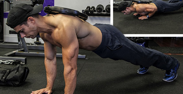 Weighted Pushup for men chest workout