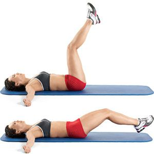 Leg Lifts piyo and buns workout move