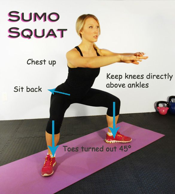 Sumo squat piyo workout