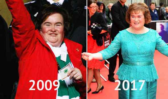 How did Susan Boyle lose weight