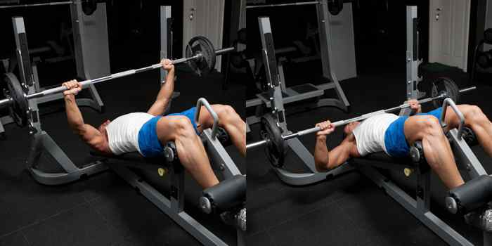 Decline Barbell Bench Press at home