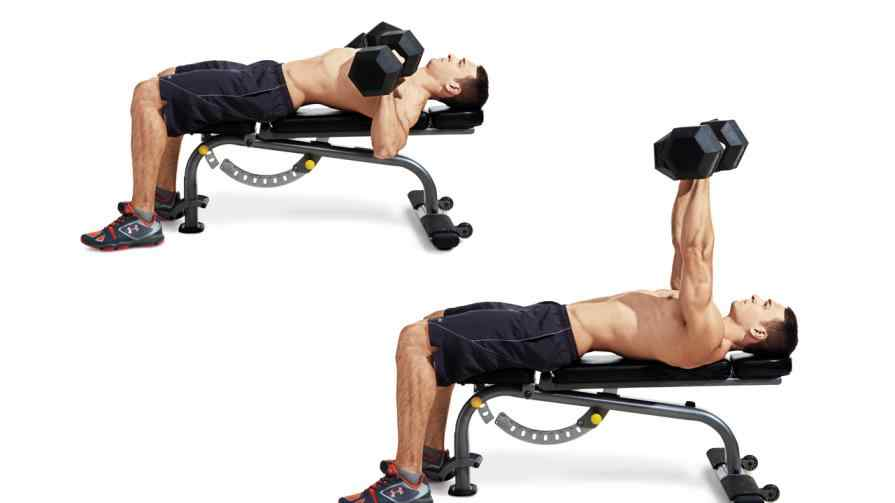 Dumbbell Chest Press at home