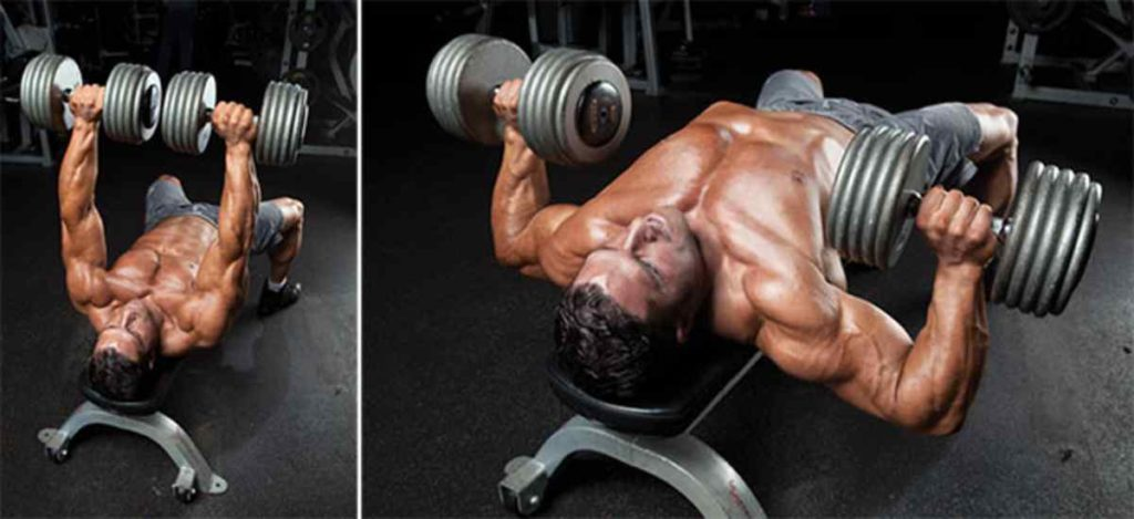 Incline Dumbbell Chest Press at home