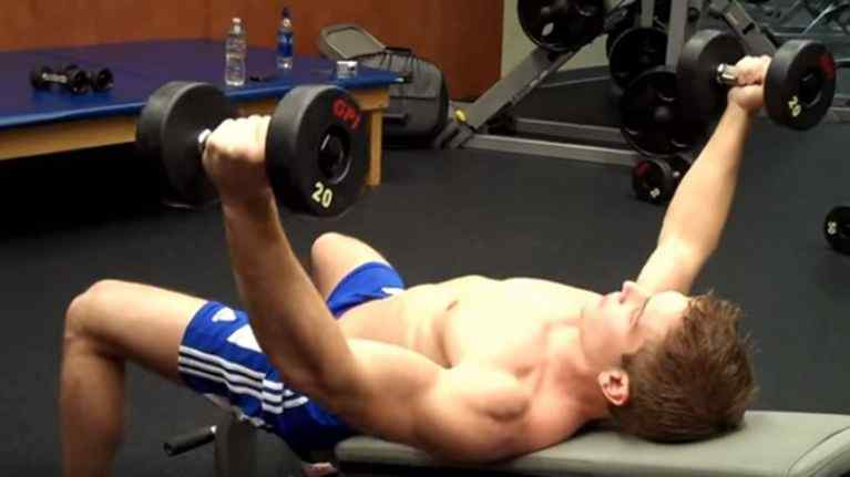 Incline Dumbbell Flyes at home