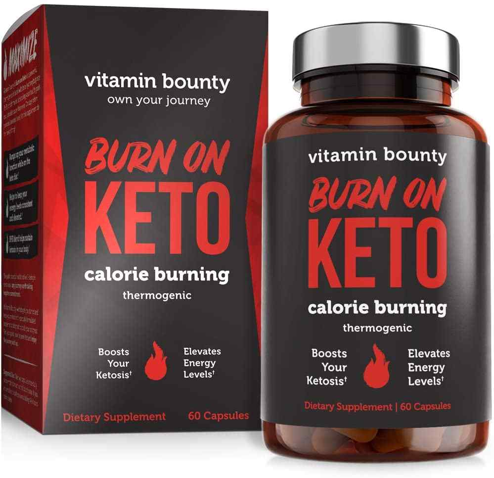 Burn on Keto - Keto Pills with BHB Beta-Hydroxybutyrate Exogenous Ketones and Green Tea Extract