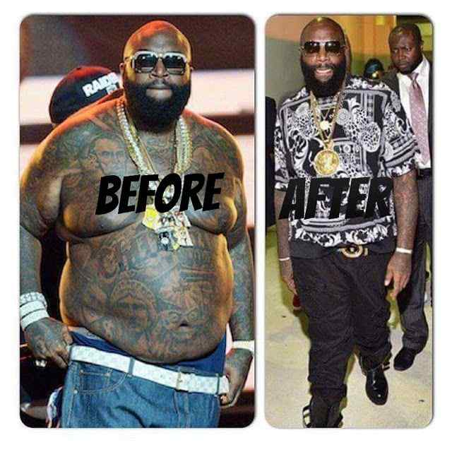 Before and After Rapper Rick Ross Weight Loss