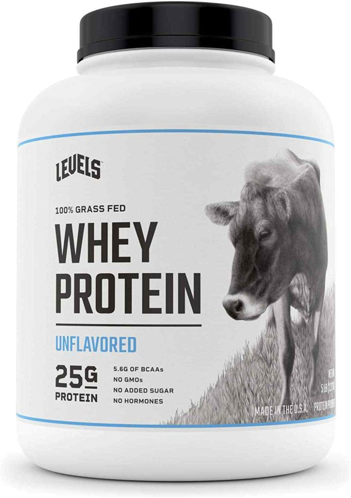 Levels 100% Grass-Fed Whey Protein, No GMOs, Unflavoured, 5LB