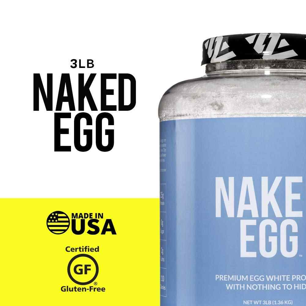 NAKED EGG – 3LB Non-GMO Egg White Protein Powder from US Farms